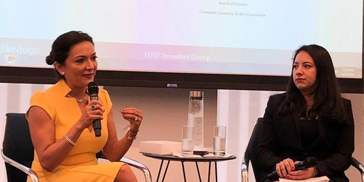 Nina Vaca discusses board diversity at Hispanic Heritage Foundation event