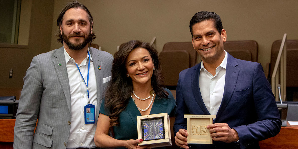 Impacto Latino Award at United Nations
